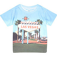 Mini boys Las Vegas print t-shirt