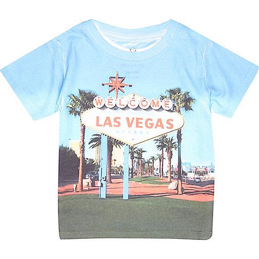 Mini boys Las Vegas print t-shirt