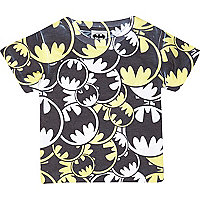 Mini boys black Batman symbol print t-shirt