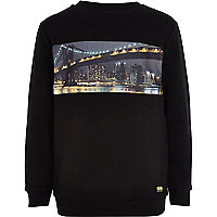 Boys black San Francisco print sweatshirt