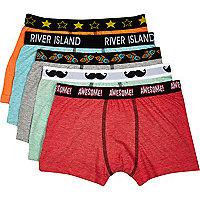 Boys green flecked 5 pack underwear