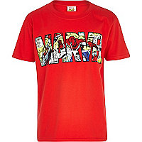 Boys red Marvel print t-shirt