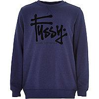 Boys blue fussy print sweatshirt