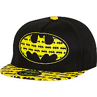 Boys black Batman snapback hat