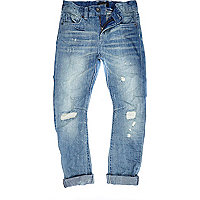 Boys blue rip Chester jeans
