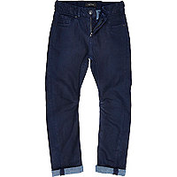 Boys dark blue slim Chester jeans