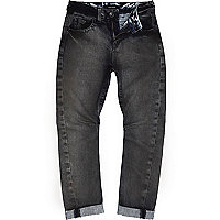 Boys grey coated Chester jeans