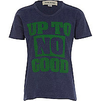 Boys blue up to no good print t-shirt