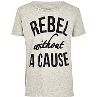 Boys grey rebel without a cause print t-shirt