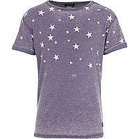 Boys blue star fade print t-shirt