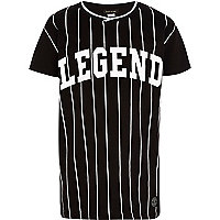 Boys black legend baseball t-shirt