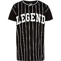 Boys black legend baseball t-shirt