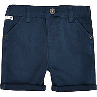 Mini boys dark petrol chino shorts