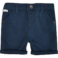 Mini boys petrol blue chino shorts