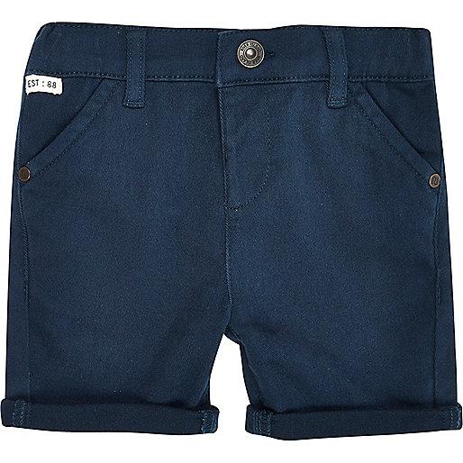 Mini boys dark petrol chino shorts