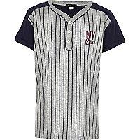 Boys grey baseball t-shirt