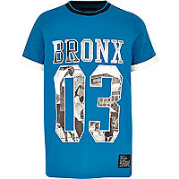 Boys blue Bronx mesh t-shirt