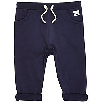 Mini boys navy jersey joggers