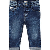 Mini boys dark acid wash jeans