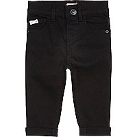 Mini boys black denim jeans