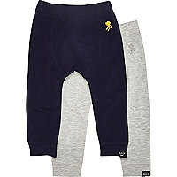 Mini boys grey joggers 2 pack