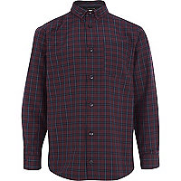 Boys red check smart shirt
