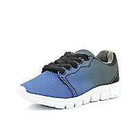 Boys blue dip dye runner trainers