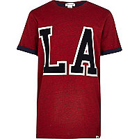 Boys red LA t-shirt