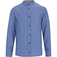 Boys blue grandad shirt
