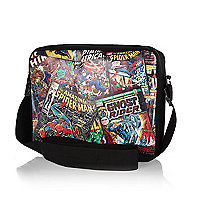 Boys black marvel messenger bag