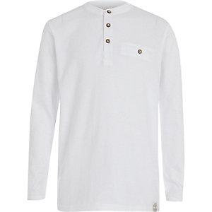 Boys white grandad t-shirt