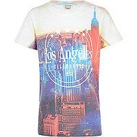 Boys white LA city print t-shirt