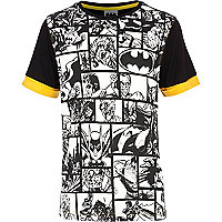 Boys black Batman comic strip t-shirt