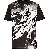 Boys black printed batman t-shirt