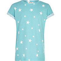 Boys blue star print t-shirt