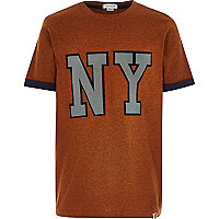 Boys orange NY t-shirt