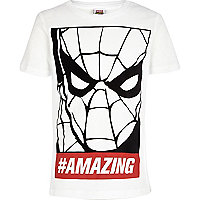 Boys white amazing Spiderman t-shirt