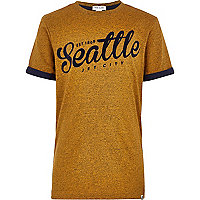 Boys yellow Seattle t-shirt