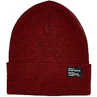 Boys light red turn up beanie hat