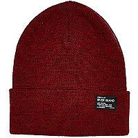 Boys light red turn up beanie hat