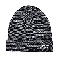 Boys grey turn up beanie hat
