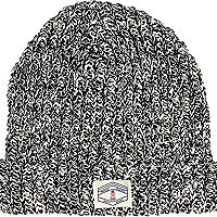 Boys navy twist yarn turn up beanie hat
