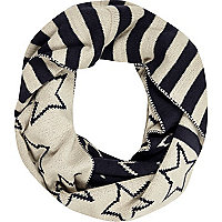 Boys navy stars and strips snood