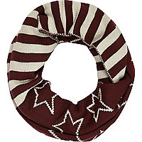 Boys red stars and stripes snood