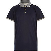 Boys navy polo shirt