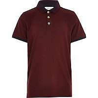 Boys dark red polo shirt