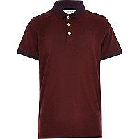 Boys dark red polo shirt