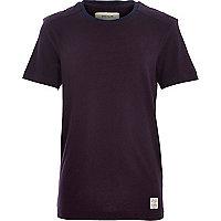 Boys purple shoulder patch t-shirt