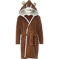 Boys monkey hood dressing gown