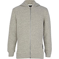 Boys grey quilted hoody